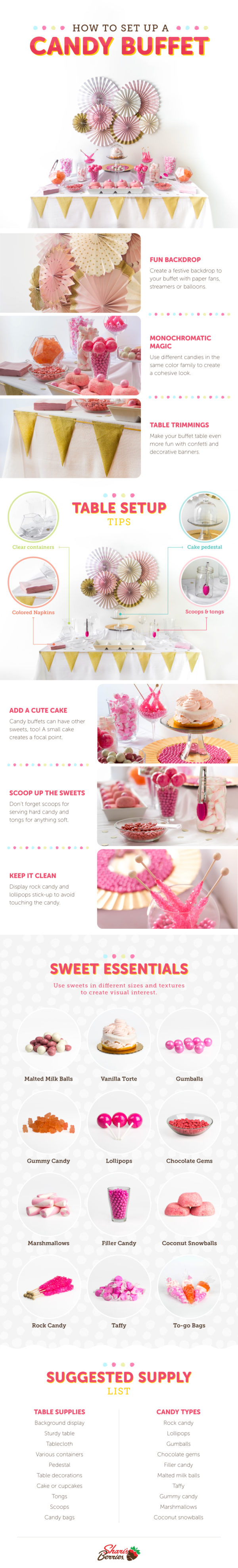 How to setup a candy Buffet - Table Set Up Tips