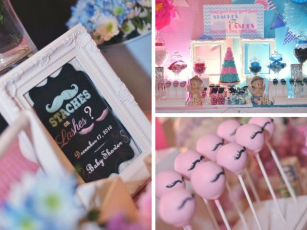 Mustache Or Eyelash Baby Shower Gender Reveal Baby