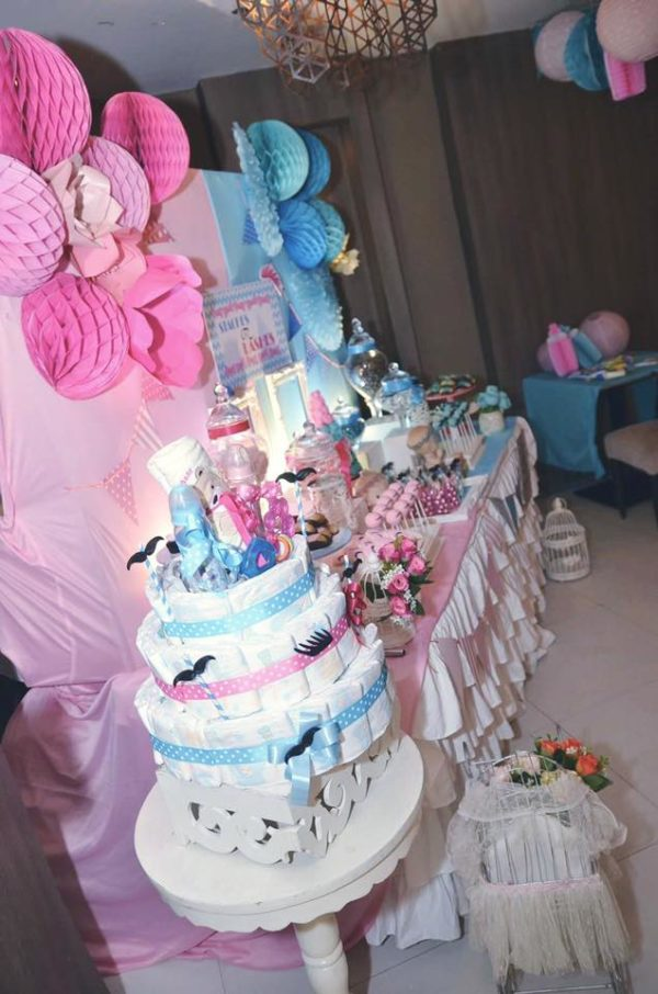 mustache-or-eyelash-baby-shower-gender-reveal-diaper-cake