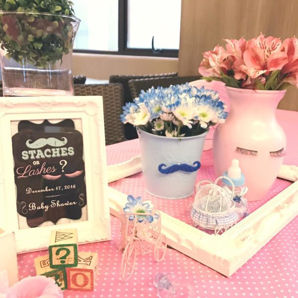 mustache-or-eyelash-baby-shower-gender-reveal-pink-flowers