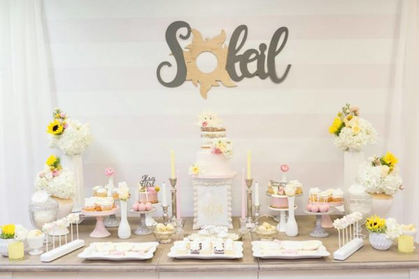 pastel-you-are-my-sunshine-shower-dessert-table