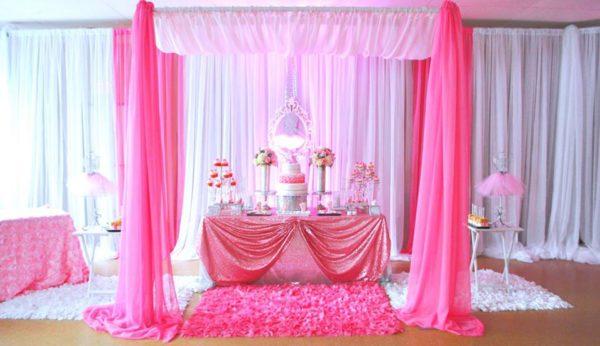 pretty-pink-ballerina-baby-shower-dessert-table