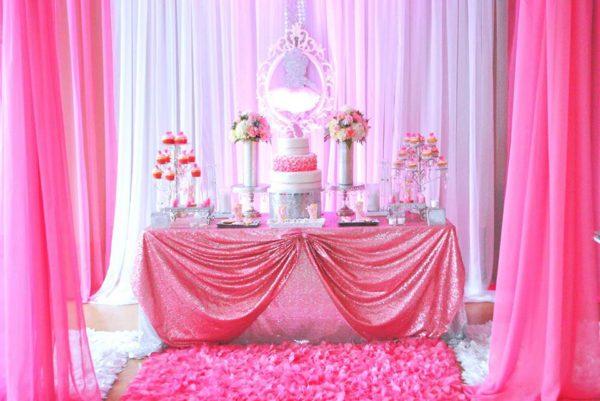 pretty-pink-ballerina-baby-shower-glittering-dessert-table