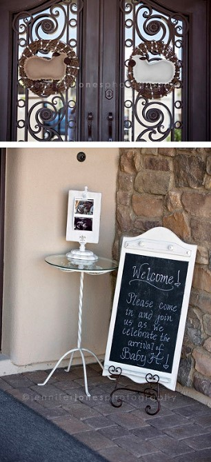 vintage-lamb-baby-shower-welcome-sign