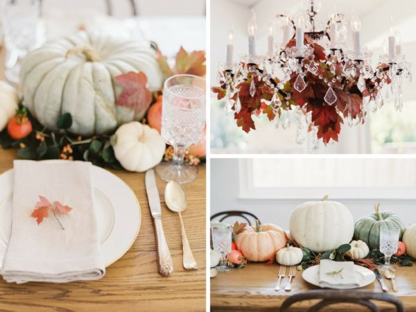 Fall in California Baby Shower tablescape