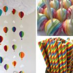Rainbow Themed Baby Shower Decorations and Party Favors