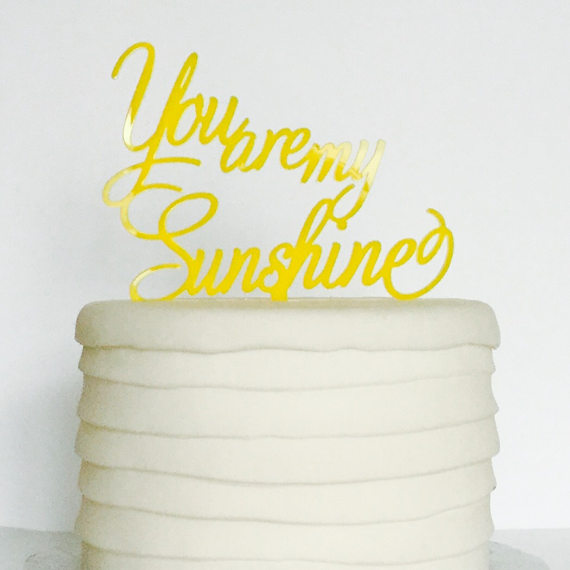 sunshine cake topper