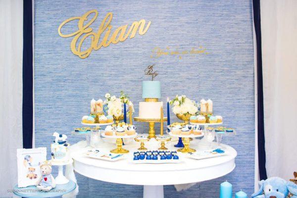 chic-blue-baby-shower-dessert-table