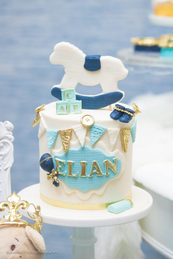 chic-blue-baby-shower-rocking-horse-cake