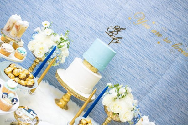 chic-blue-baby-shower-treat-table