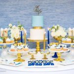 Chic Blue and Gold Baby Shower