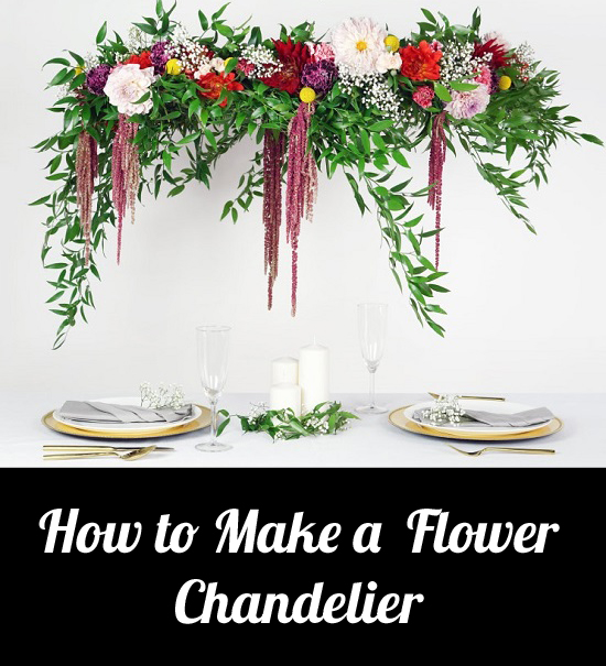 How to Make a Flower Chandelier craft