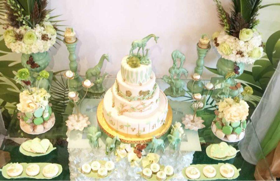 mint-green-jungle-baby-shower-dessert-station