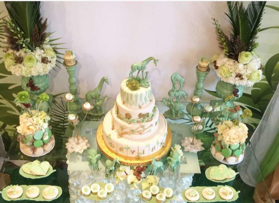 Greenery Baby Shower Cake