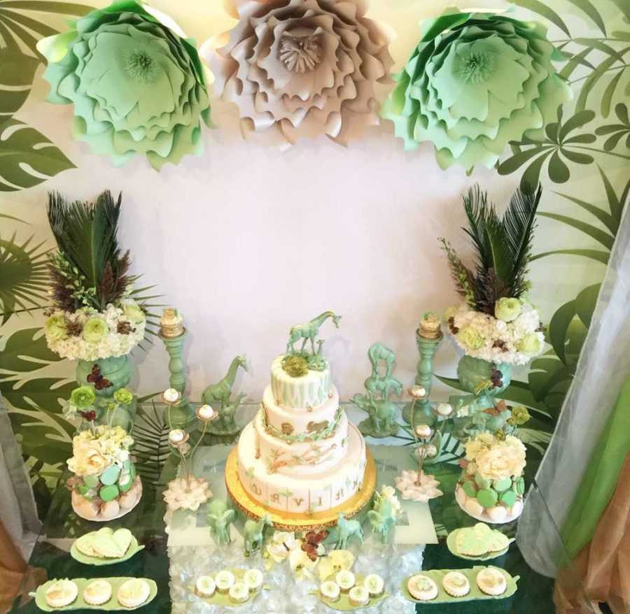 mint-green-jungle-baby-shower-paper-flowers