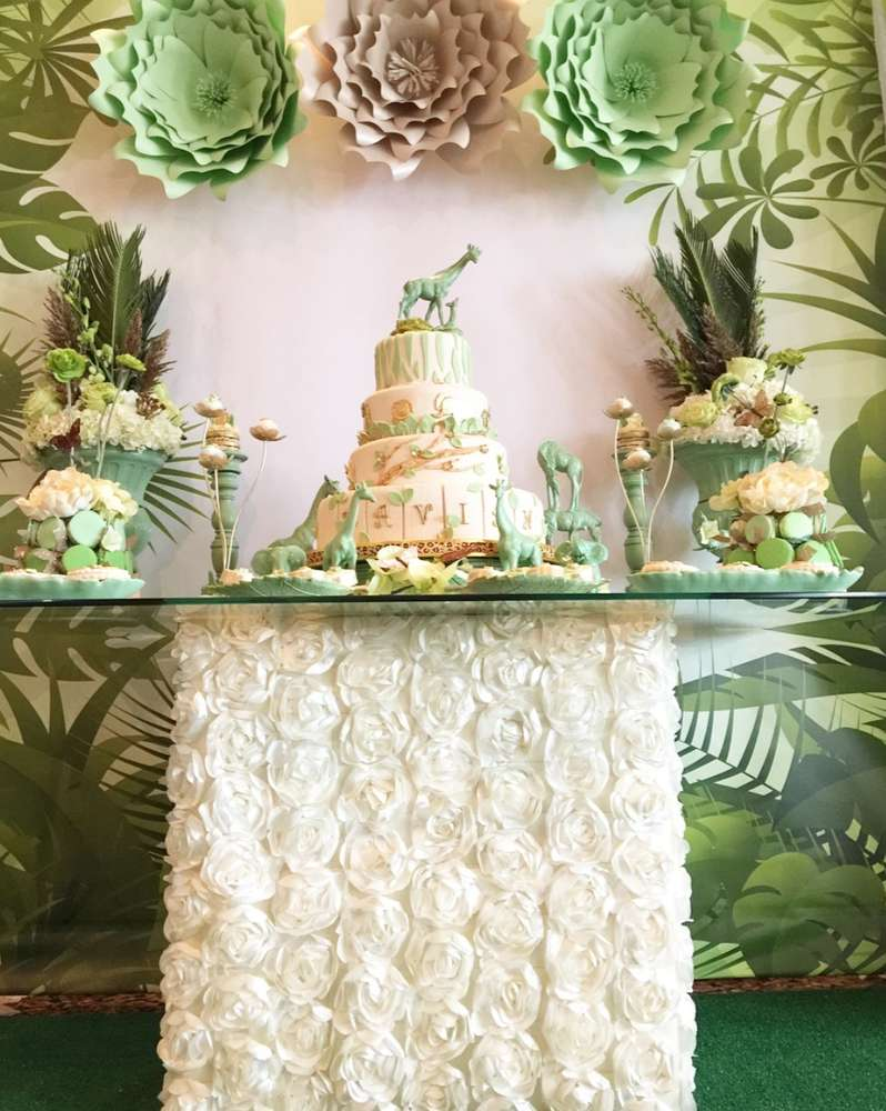 mint-green-jungle-baby-shower-treat-station