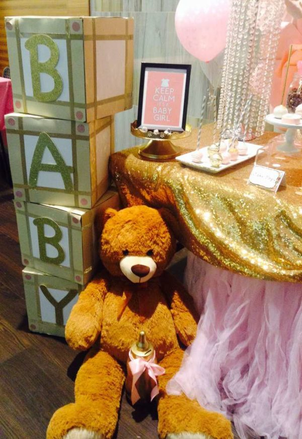 pretty-pink-and-gold-baby-shower-giant-teddybear