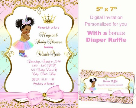 Princess Unicorn Invitation
