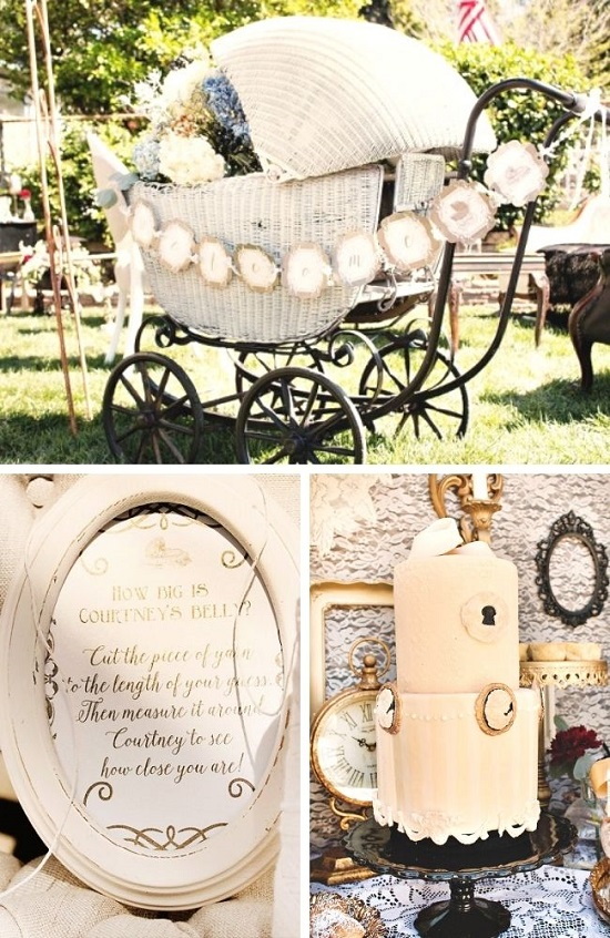 Vintage Victorian Baby Shower Tablescape