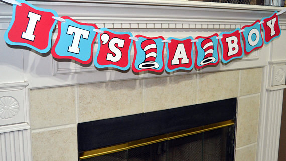 Dr. Seuss Baby Shower baby banner