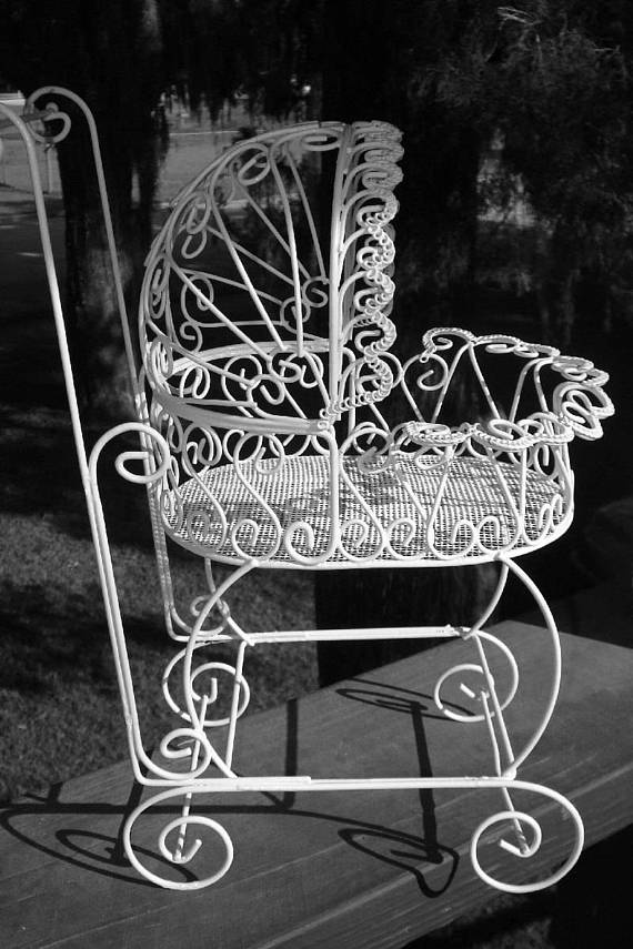 vintage baby shower decoration baby carriage