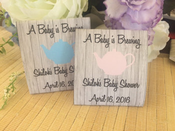 baby shower tea packets