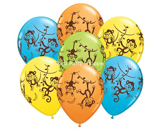 monkey themed balloons