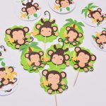 Monkey Themed Baby Shower Decorations and Party Favors