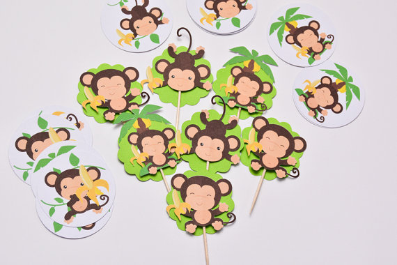 monkey cake toppers