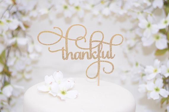 thankful cake topper
