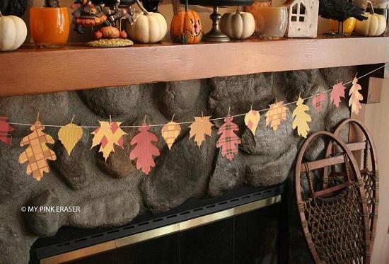 thanksgiving fall leaf banner