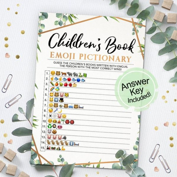 Childrens Book Emoji Pictionary