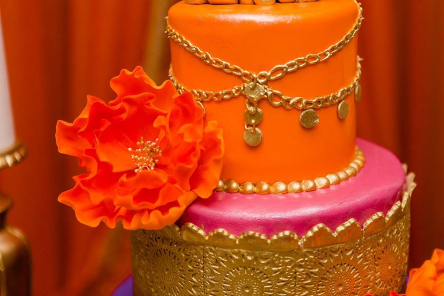 colorful-moroccon-baby-shower-cake-flower