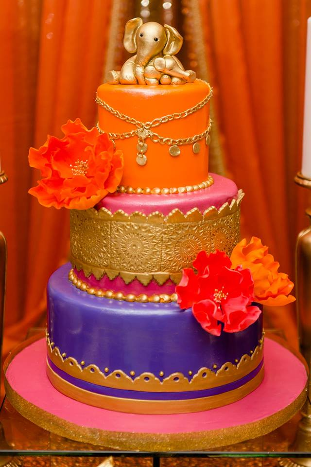 colorful-moroccon-baby-shower-layered-cake