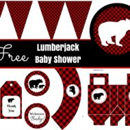 Free Lumberjack Baby Shower Party Printables