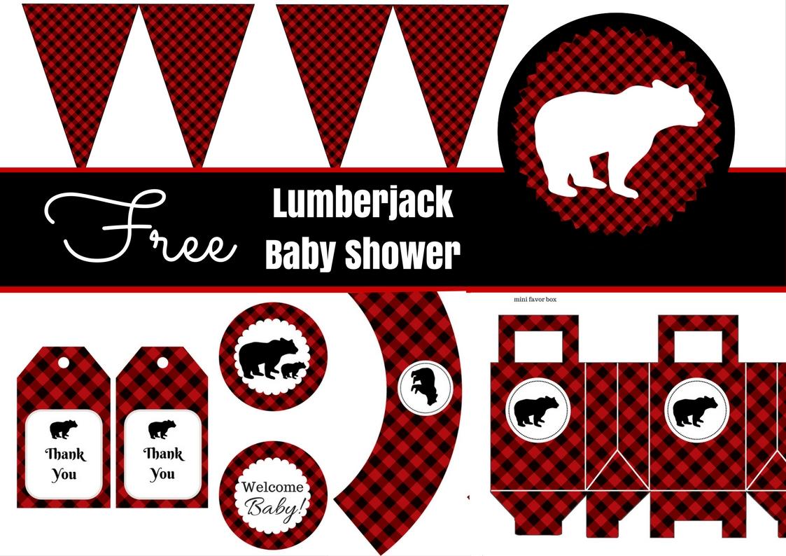 Free Lumberjack Baby Shower Party Printables