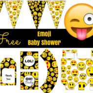 Free Emoji baby shower Printable
