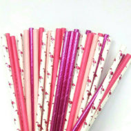 hot-pink-flamingo-drinking-straws-baby-shower