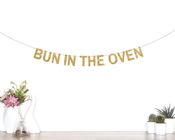 bun in the oven banner