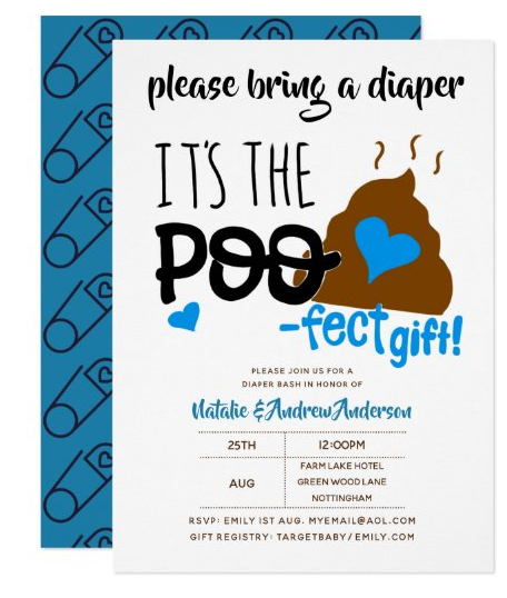 boy emoji baby shower invitation
