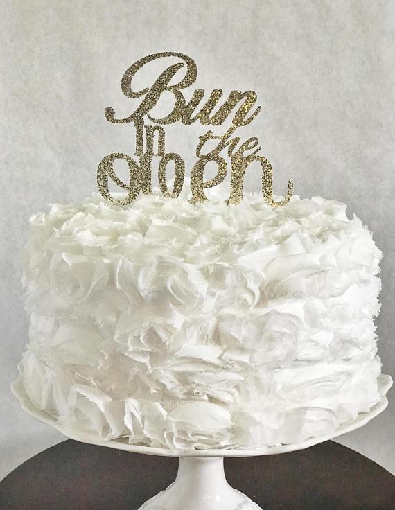 Bun in the Oven Cake Topper