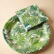 jungle-theme-baby-shower-tablewares-leaf-plates