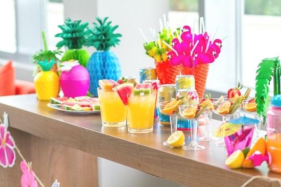 tropical fruit juice bar