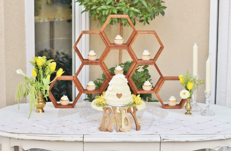 baby-to-bee-outdoor-shower-dessert-table