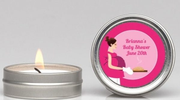 Bun In The Oven Baby Shower Candle Tin Favor
