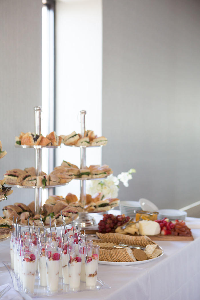 shimmering-chic-baby-shower-food-buffet