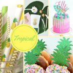 Tropical Themed Baby Shower Decorations and Party Favors
