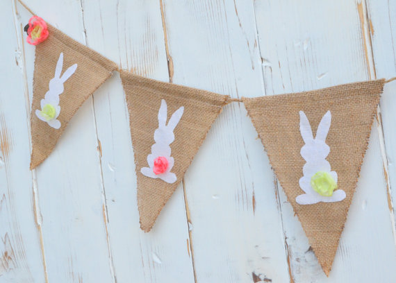Easter Baby Shower bunny banner