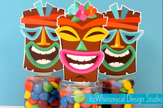 Tiki candy containers