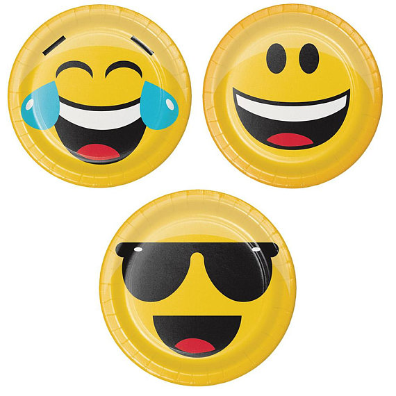 dessert plates for emoji party tableware
